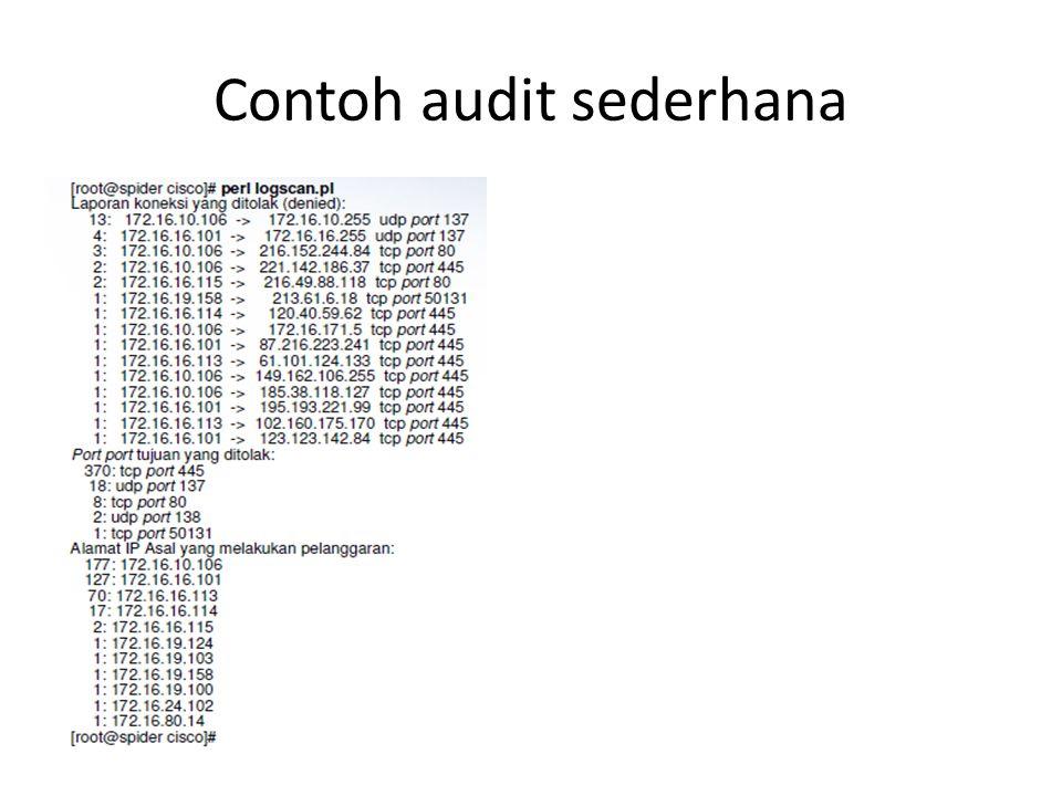 Contoh audit sederhana