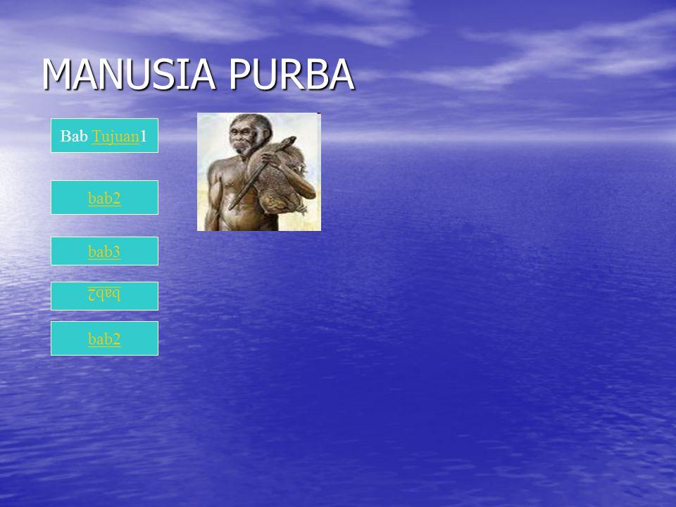 MANUSIA PURBA Bab Tujuan1 bab2 bab3 bab2