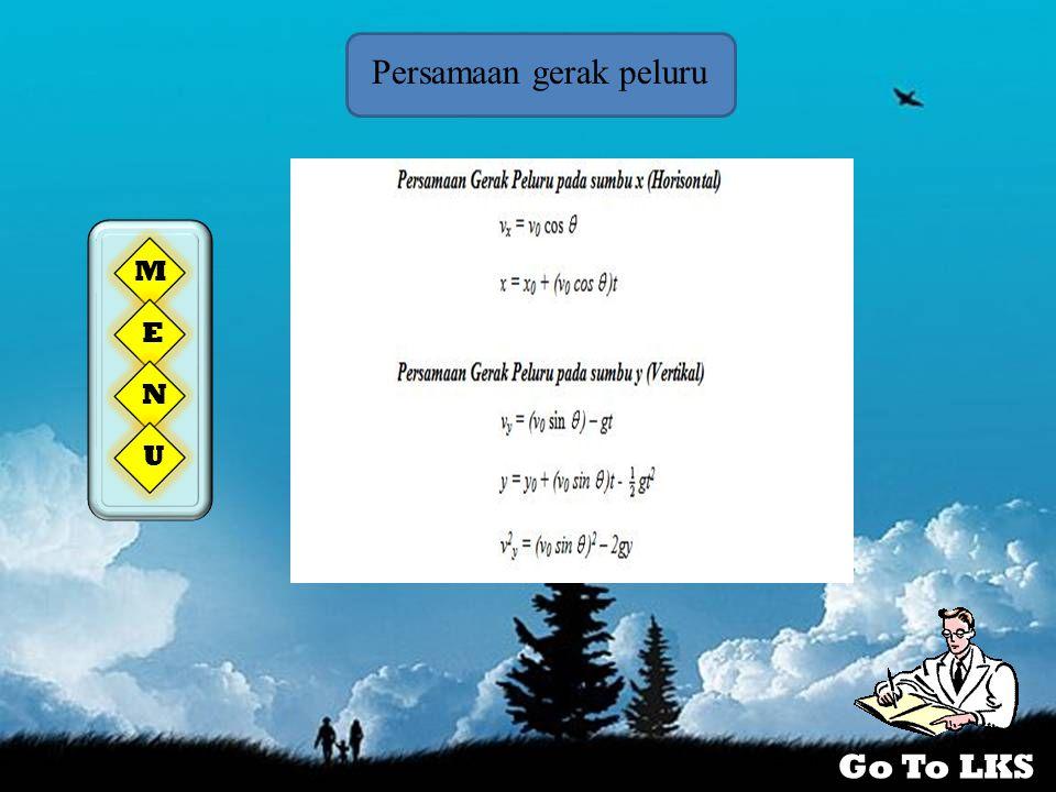 Persamaan gerak peluru M E N U Go To LKS