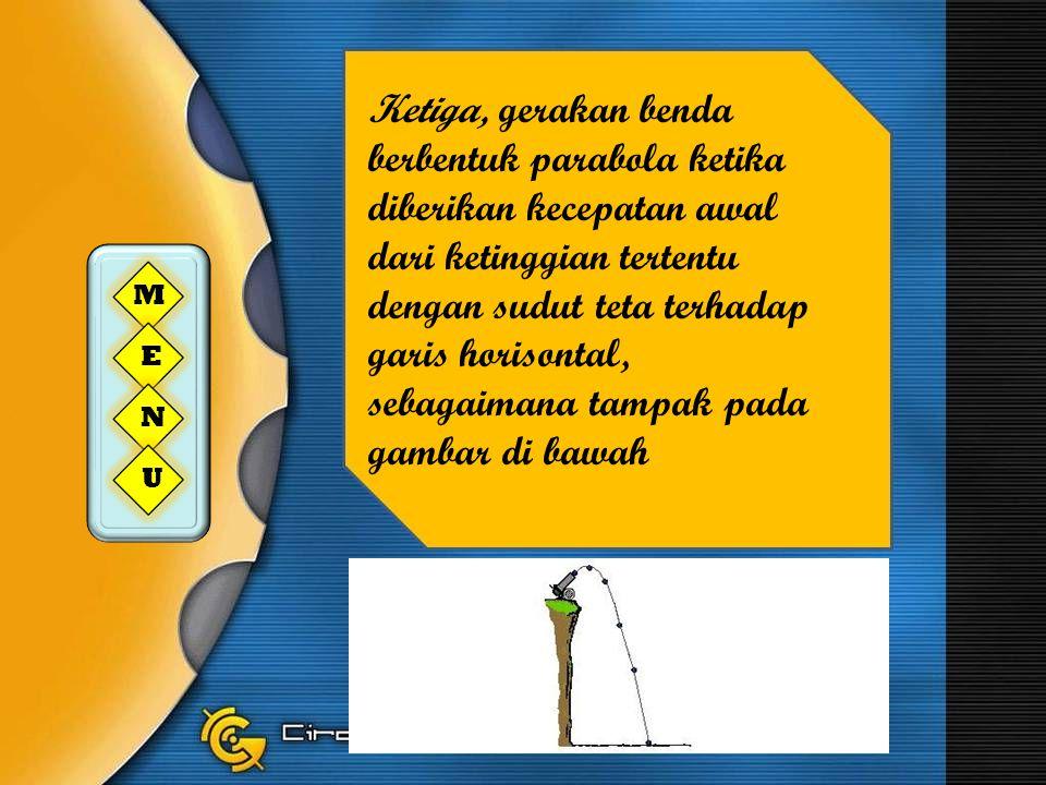 Gerak peluru adalah gerak dua dimensi, di mana melibatkan sumbu horisontal dan vertikal.