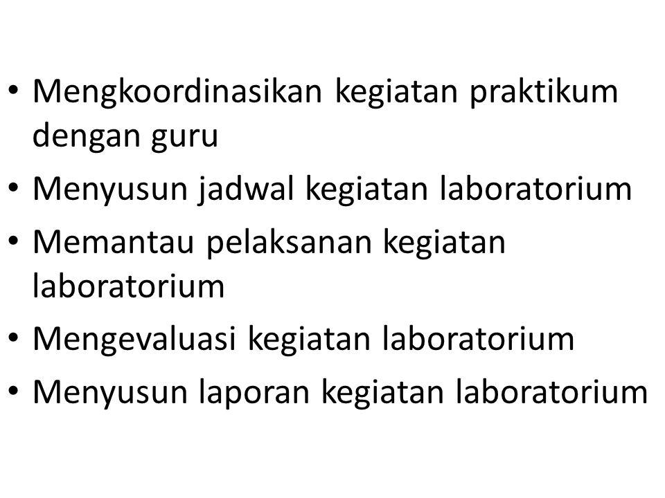 Pelaksanaan praktikum rangkuman hasil pantauan untuk tiap topik untuk tiap kelas