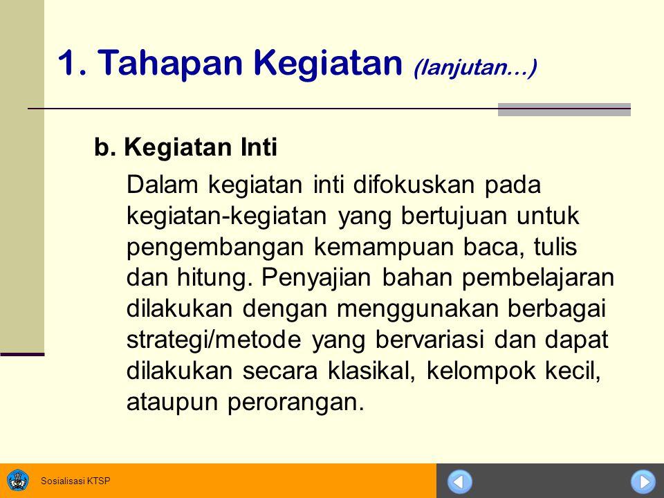 Sosialisasi KTSP b.
