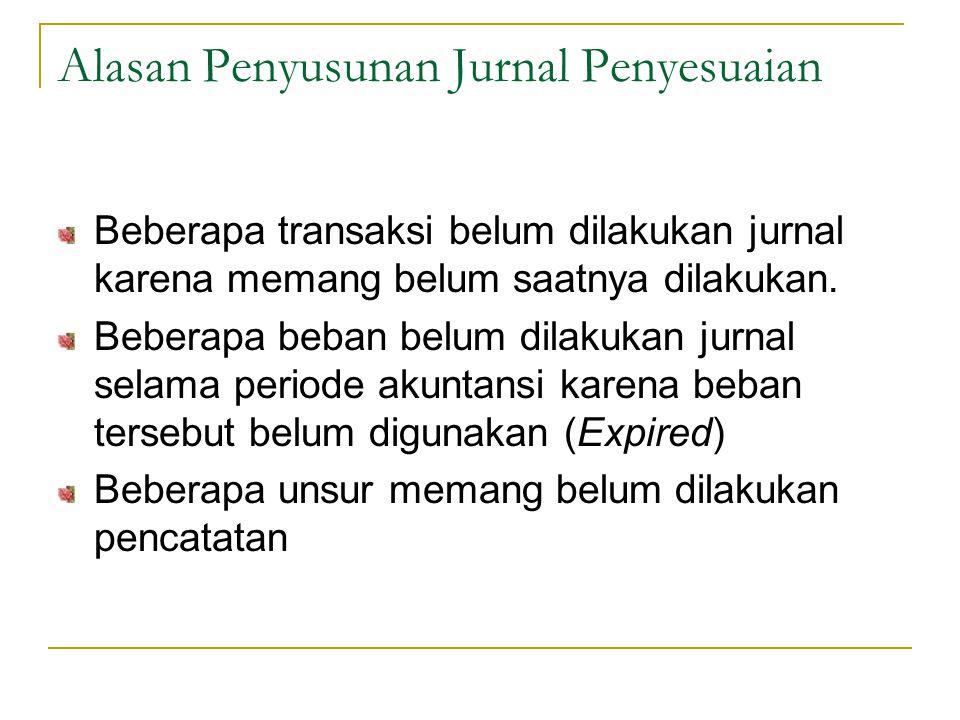Unsur Pokok Jurnal Penyesuaian 1.Pembayaran-pembayaran dimuka (Prepayment), yang terdiri atas: a.