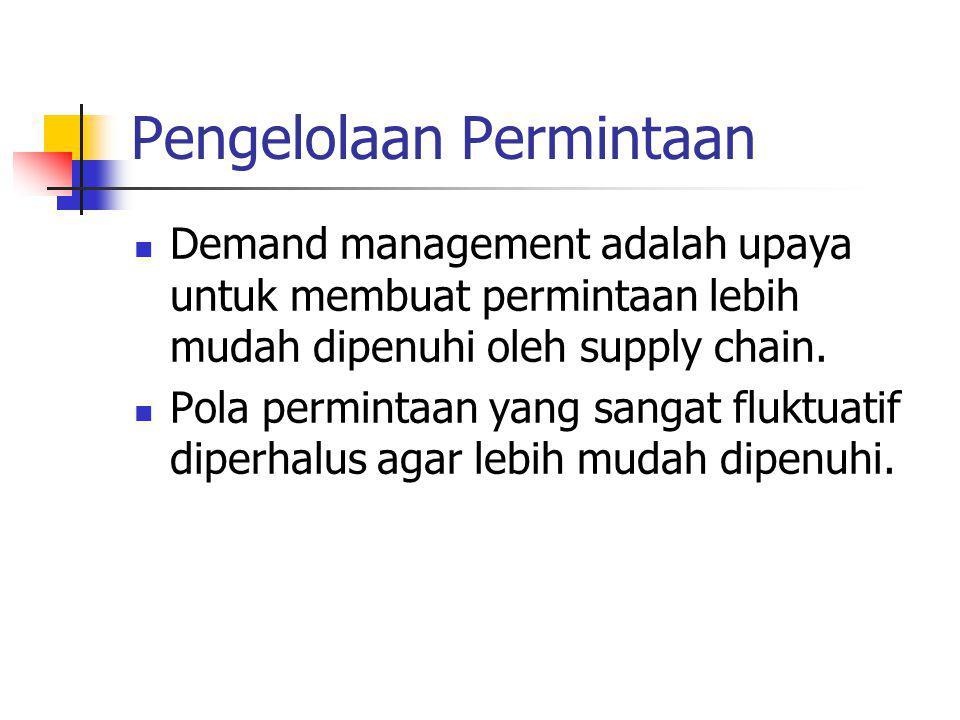 Pengelolaan Permintaan Demand management adalah upaya untuk membuat permintaan lebih mudah dipenuhi oleh supply chain.