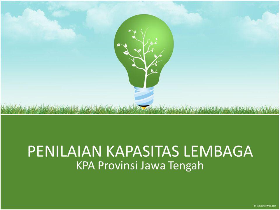PENILAIAN KAPASITAS LEMBAGA KPA Provinsi Jawa Tengah