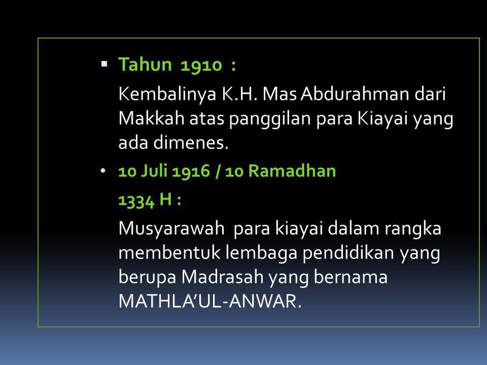 1939, Menes Kongres MA ke III  terpilih ketua umumnya adalah E.Uwes Abu Bakar.
