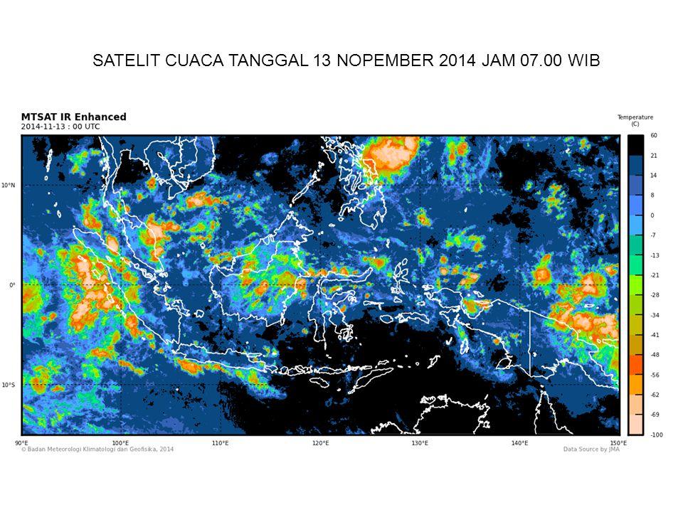 SATELIT CUACA TANGGAL 13 NOPEMBER 2014 JAM 07.00 WIB