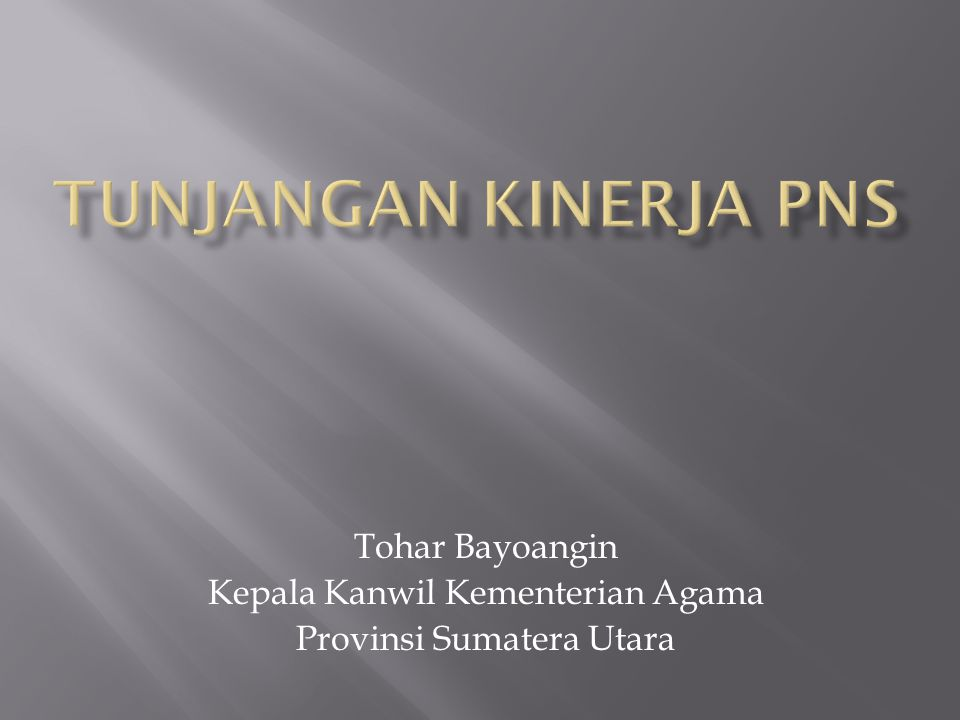 Tohar Bayoangin Kepala Kanwil Kementerian Agama Provinsi Sumatera Utara