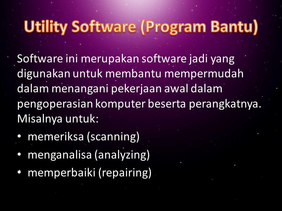 Operating system merupakan program yang berfungsi untuk mengatur sistem kerja seluruh komputer seperti layaknya penerjemah antara hardware dan software yang akan dilakukannya Contoh: PC-DOS atau MS-DOS untuk Personal Computer (PC) Windows dan berbagai variannya untuk PC atau jaringan