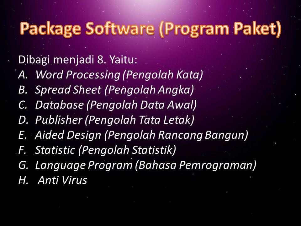 Software ini merupakan software jadi yang digunakan untuk membantu mempermudah dalam menangani pekerjaan awal dalam pengoperasian komputer beserta perangkatnya.