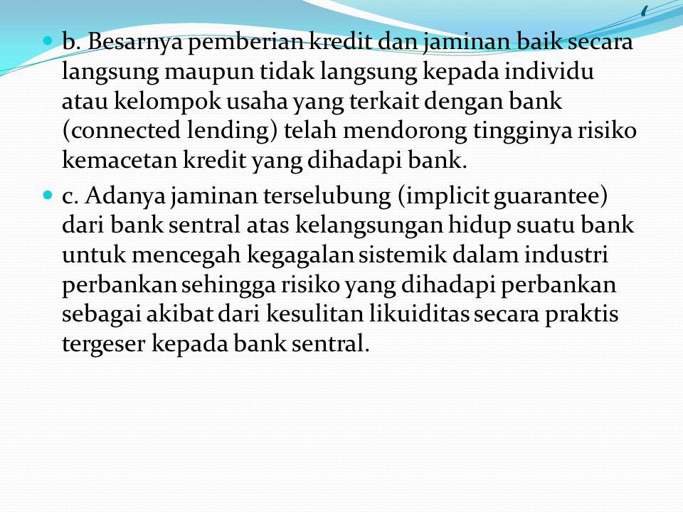 Terdapat lima faktor yang mengakibatkan kondisi mikro perbankan nasional menjadi rentan terhadap gejolak ekonomi dewasa itu, yakni : a. Relatif lemahn