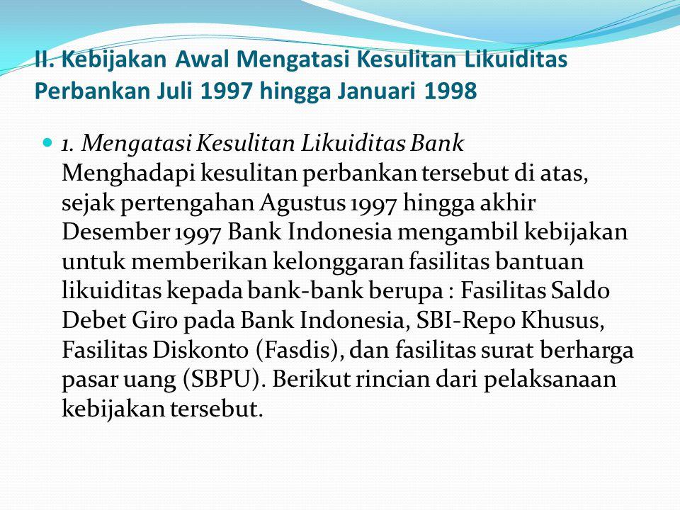 . d. Kurang transparannya informasi mengenai kondisi perbankan selain telah mengakibatkan kesulitan dalam melakukan analisis secara akurat tentang kon
