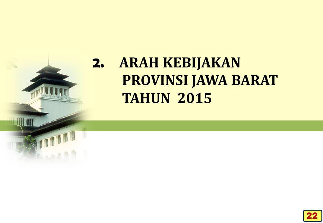 2. ARAH KEBIJAKAN PROVINSI JAWA BARAT TAHUN 2015 22