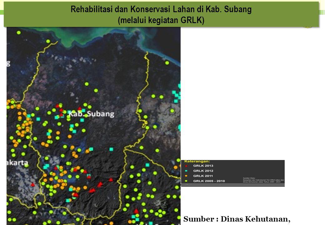 Rehabilitasi dan Konservasi Lahan di Kab. Subang (melalui kegiatan GRLK) Rehabilitasi dan Konservasi Lahan di Kab. Subang (melalui kegiatan GRLK) Sumb