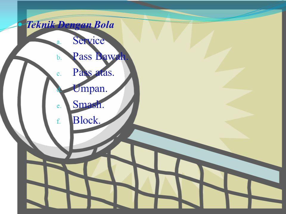 TEKNIK DASAR BOLA VOLI Teknik dalam permainan bola voli ada 2 macam, yaitu :  Teknik Tanpa Bola. a. Sikap Siap. b. Pengambilan posisi yang tepat & be