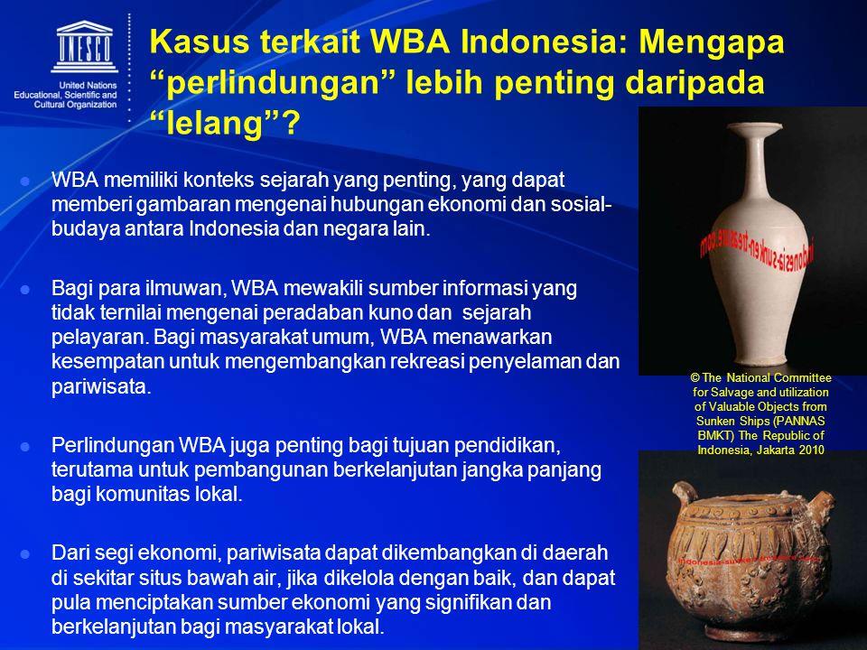 """Kasus terkait WBA Indonesia: Mengapa """"perlindungan"""" lebih penting daripada """"lelang""""? WBA memiliki konteks sejarah yang penting, yang dapat memberi gam"""