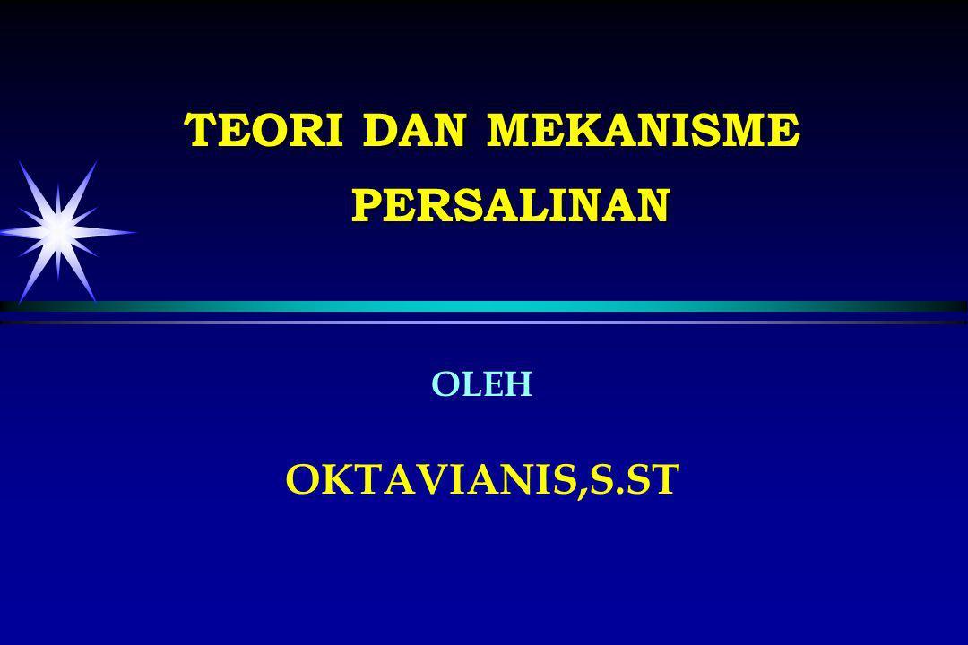 OLEH OKTAVIANIS,S.ST TEORI DAN MEKANISME PERSALINAN
