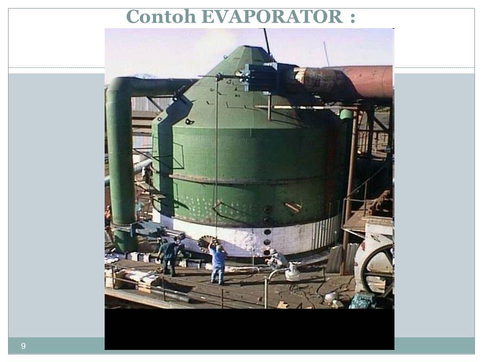 20 Tek nik Kimi a ITS Long-tube vertical evaporators boiling, 2-phase zone decreasing ρ Increasing Vz non-boiling zone