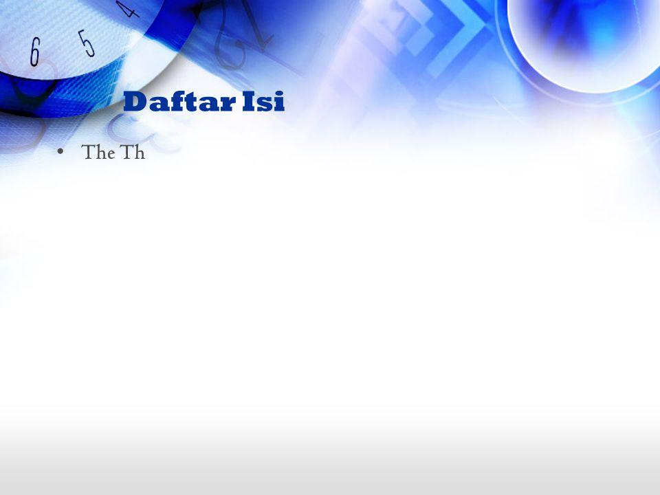 Daftar Isi The Th