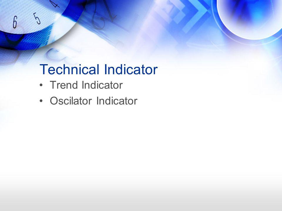 Technical Indicator Trend Indicator Oscilator Indicator