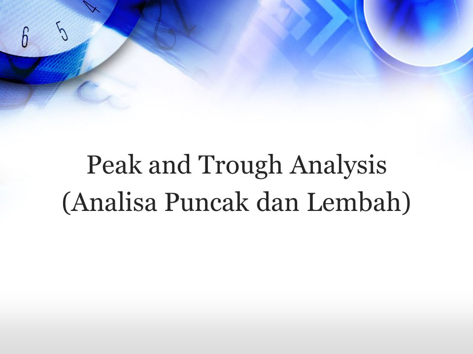 Buy and Hold + Peak and Trough Analysis