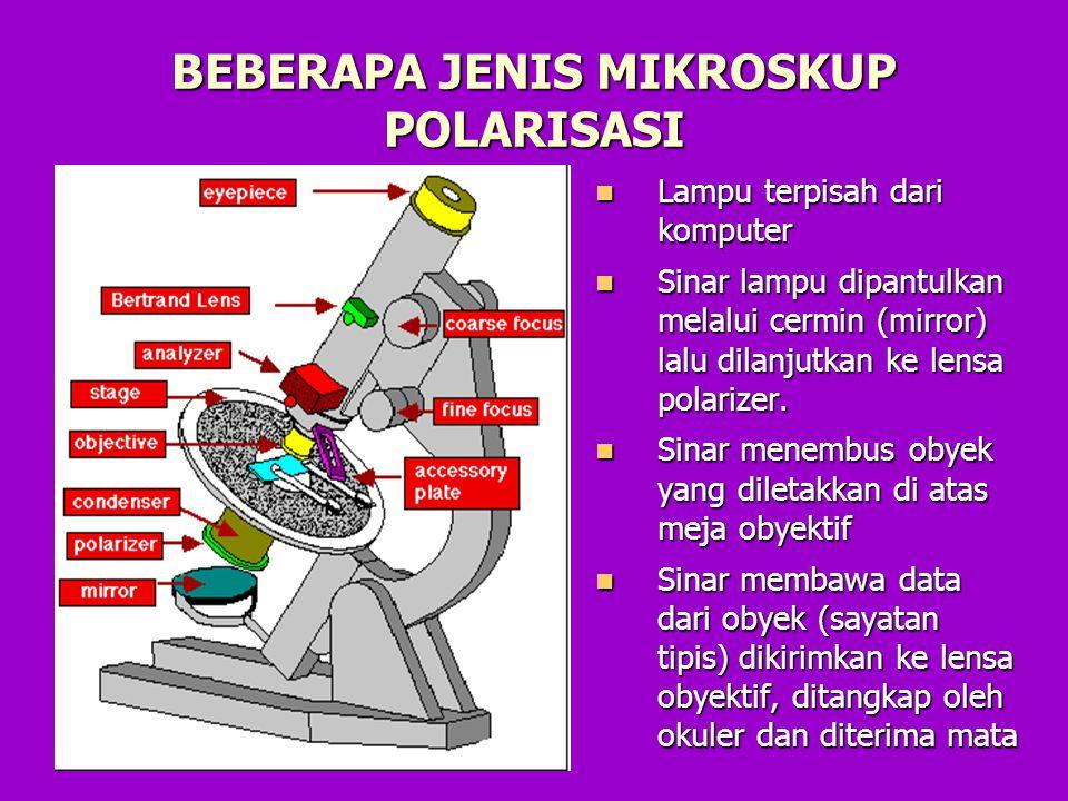 Resolving Power Bagian dari mikroskop yang berfungsi untuk pengaturan ketelitian alat.
