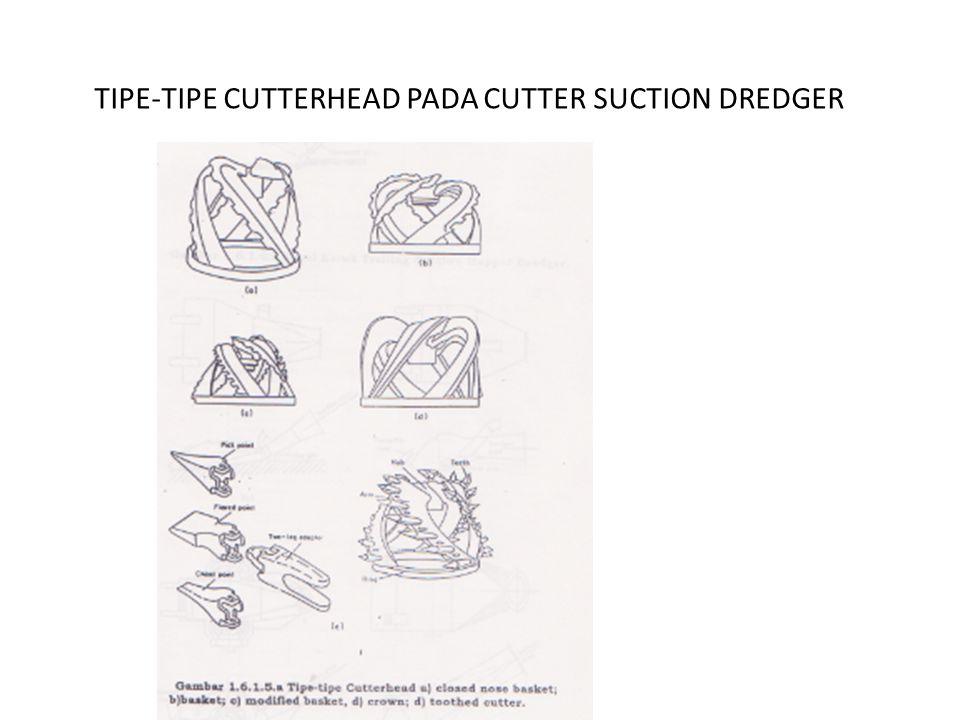 TIPE-TIPE CUTTERHEAD PADA CUTTER SUCTION DREDGER