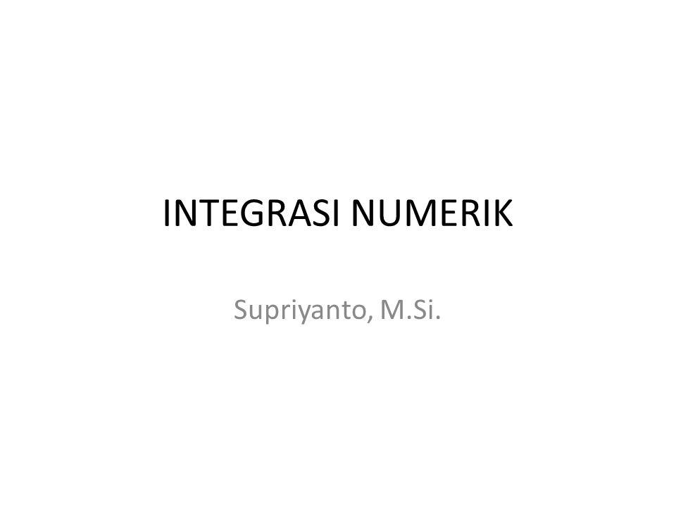 Rumus Integral (analitik)