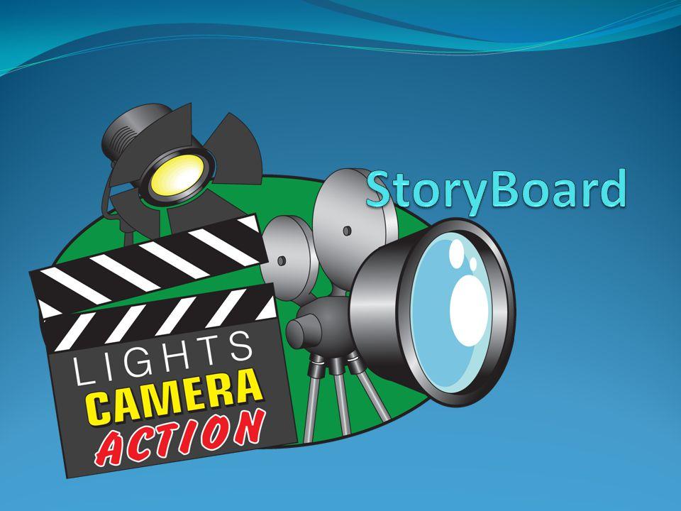 Pengertian Storyboard Storyboard adalah serangkaian sketsa dibuat berbentuk persegi panjang yang menggambarkan suatu urutan (alur cerita) elemen-elemen yang diusulkan untuk aplikasi multimedia.