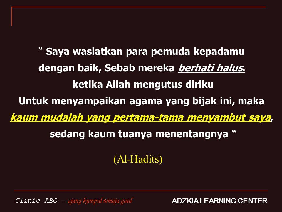 Karakter PEMUDA ISLAM AAqidah yang lurus IIbadahnya benar AAkhlaqnya menawan MMandiri dalam penghasilan wwawasan luas FFisiknya prima SSerius RRapi dalam semua hal TTepat waktu + disiplin MManfaat bagi sesama