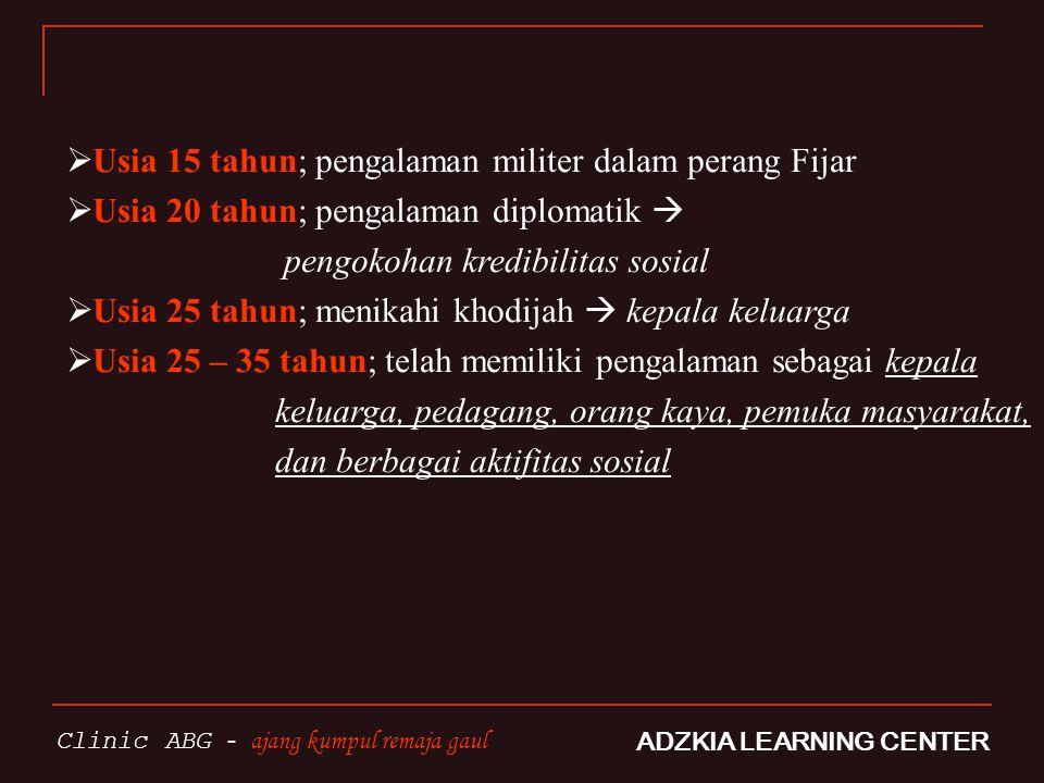 POTRET PEMUDA ISLAM SAAT INI ADZKIA LEARNING CENTER Clinic ABG - ajang kumpul remaja gaul