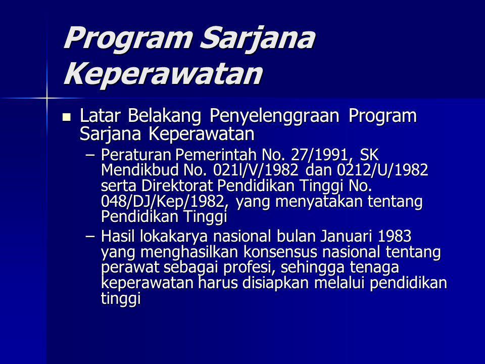 Program Sarjana Keperawatan Latar Belakang Penyelenggraan Program Sarjana Keperawatan Latar Belakang Penyelenggraan Program Sarjana Keperawatan –Perat