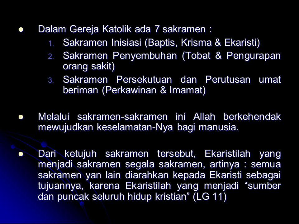 I.SAKRAMEN BAPTIS (Cfr.