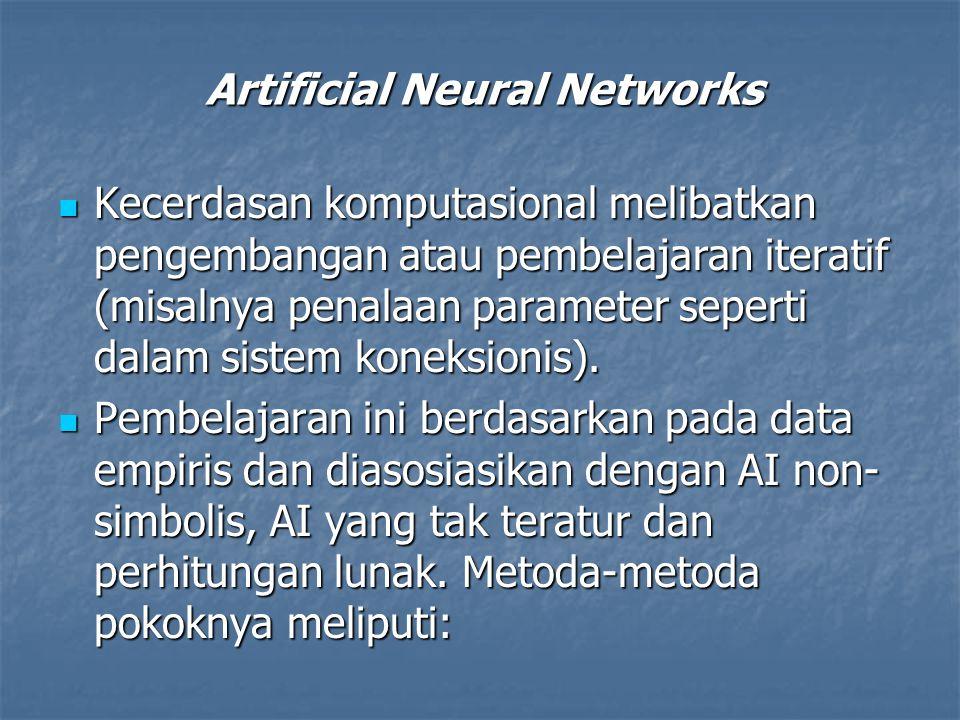 Kecerdasan komputasional melibatkan pengembangan atau pembelajaran iteratif (misalnya penalaan parameter seperti dalam sistem koneksionis). Kecerdasan