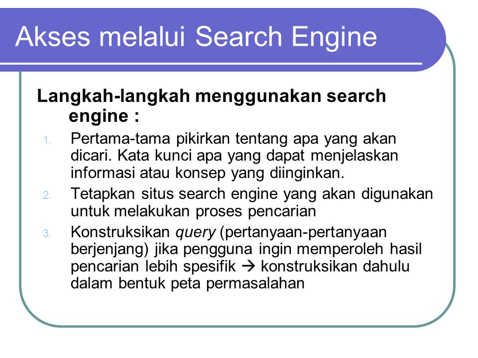 1.Klik tombol search untuk mengeksekusi permintaan pencarian 2.