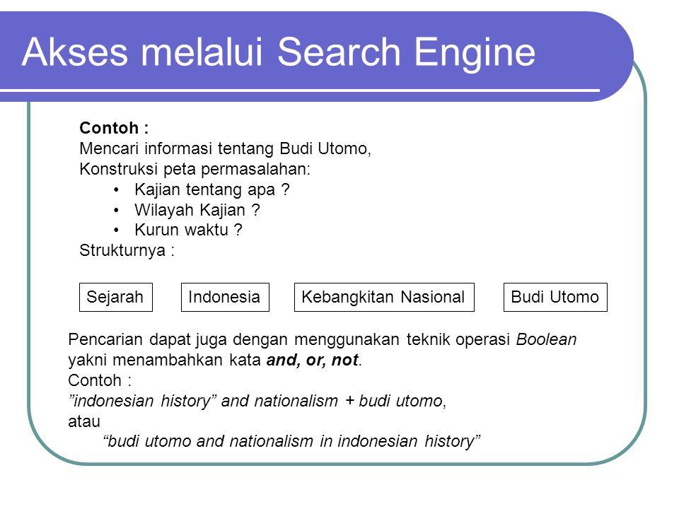 Contoh : Mencari informasi tentang Budi Utomo, Konstruksi peta permasalahan: Kajian tentang apa .