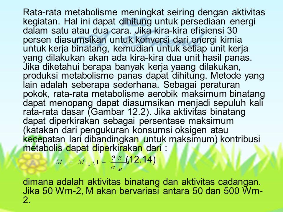 Perubahan Kalor Laten Penguapan air dari sistem respirasi dan dari hasil kulit (keringat) dalam kalor laten yang hilang dari binatang.