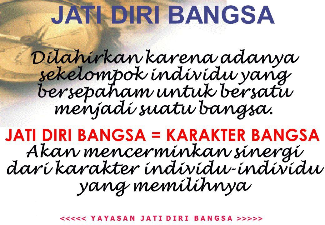 >>>> >>>> JATI DIRI, ADALAH TERBERI (GIVEN), SEDANG…… JATI DIRI BANGSA, ADALAH PILIHAN (CHOICE)