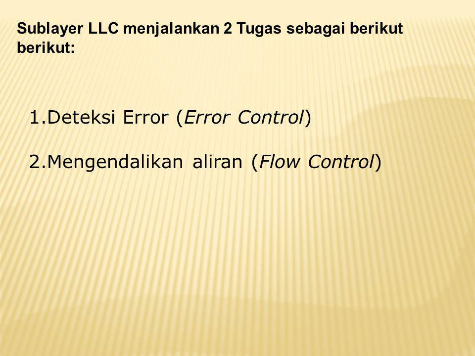 Sublayer LLC menjalankan 2 Tugas sebagai berikut berikut: 1.Deteksi Error (Error Control) 2.Mengendalikan aliran (Flow Control)