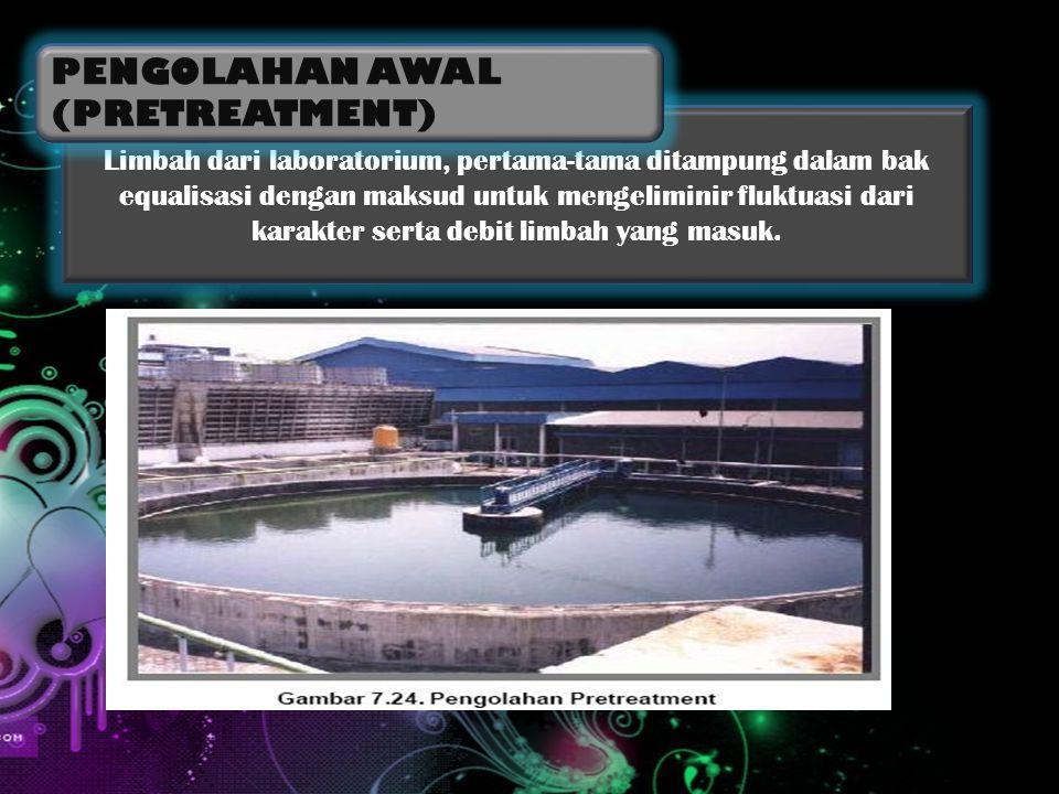 Setelah ditampung di bak equalisasi, air limbah dipompa dengan pompa submersible menuju kebak aerasi.