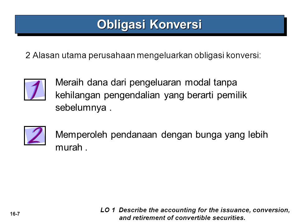 16-7 Meraih dana dari pengeluaran modal tanpa kehilangan pengendalian yang berarti pemilik sebelumnya. Memperoleh pendanaan dengan bunga yang lebih mu