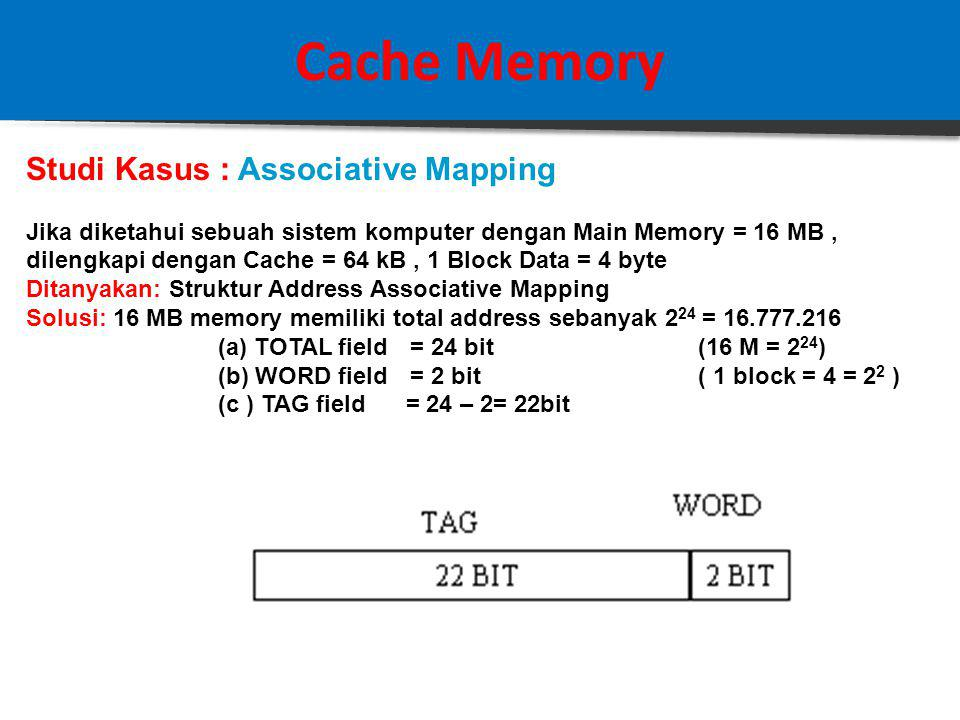 Cache Memory HASIL: DIRECT MAPPING