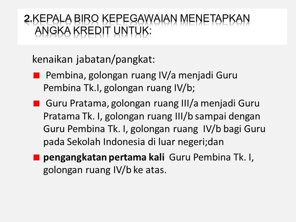 BAGI GURU PEMBINA TK I, IV/b S.D.
