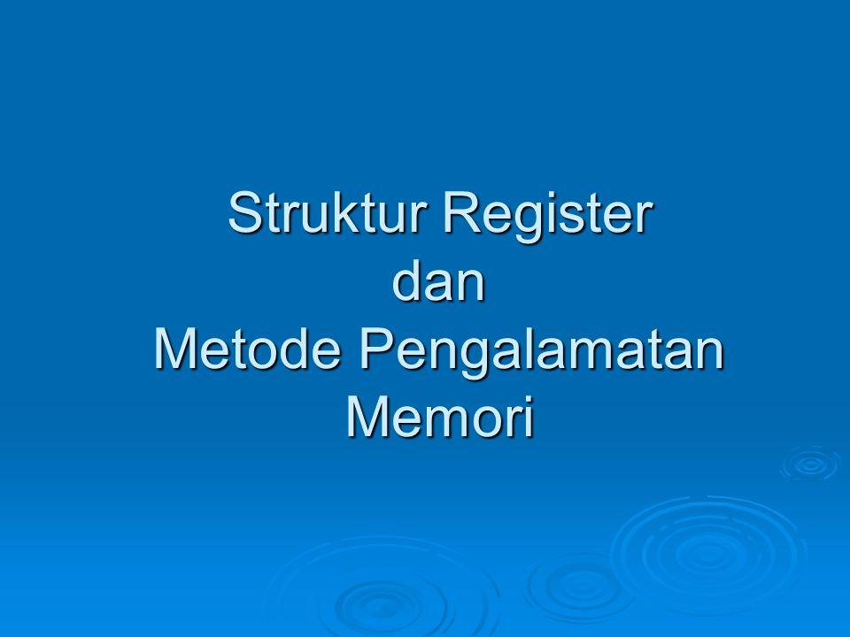 Struktur Register dan Metode Pengalamatan Memori