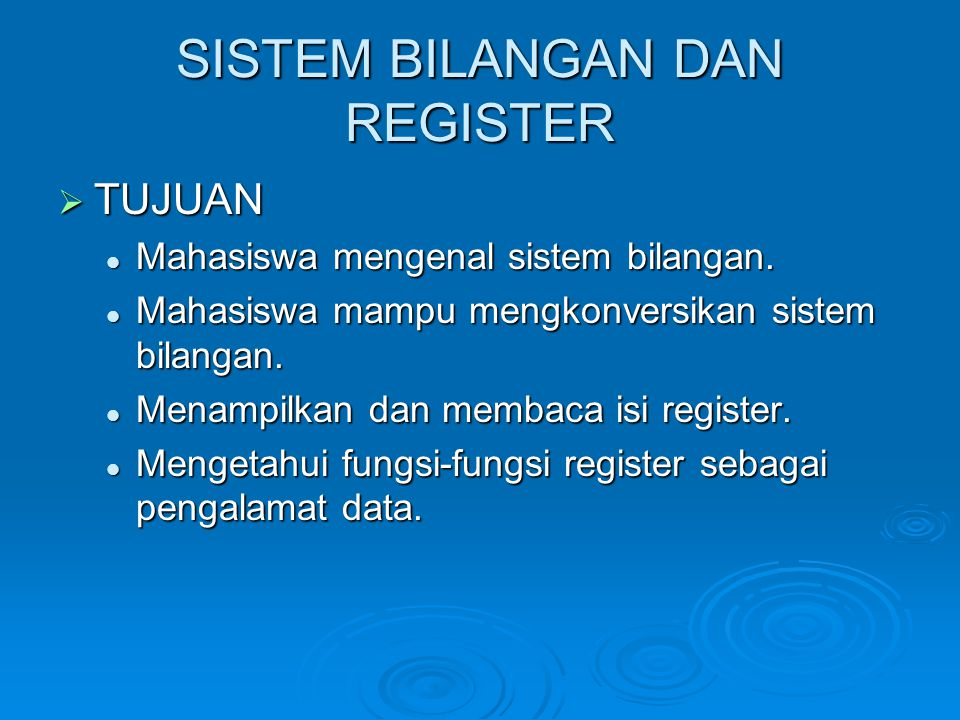 PENGERTIAN REGISTER  Dalam melakukan pekerjaannya mikroprosesor selalu menggunakan register-register sebagai perantaranya.