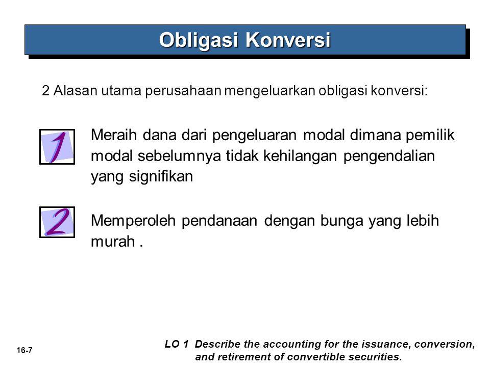 16-8 PSAK 50: Entitas mengakui secara terpisah komponen instrumen keuangan yang:  menimbulkan liabilitas keuangan bagi entitas; dan  memberikan opsi bagi pemegang instrumen untuk mengkonversi instrumen keuangan tersebut menjadi instrumen ekuitas dari entitas yang bersangkutan.