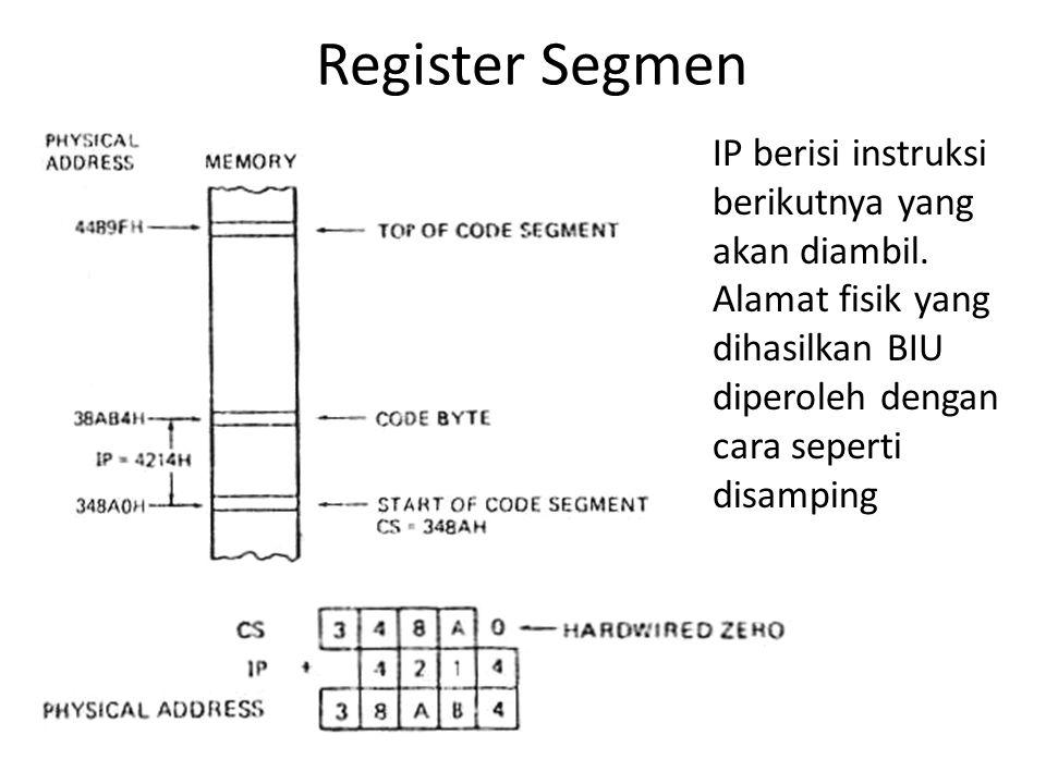 Register Segmen IP berisi instruksi berikutnya yang akan diambil.
