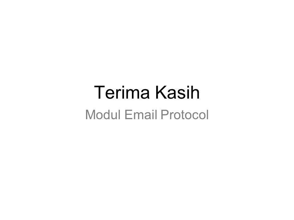 Terima Kasih Modul Email Protocol
