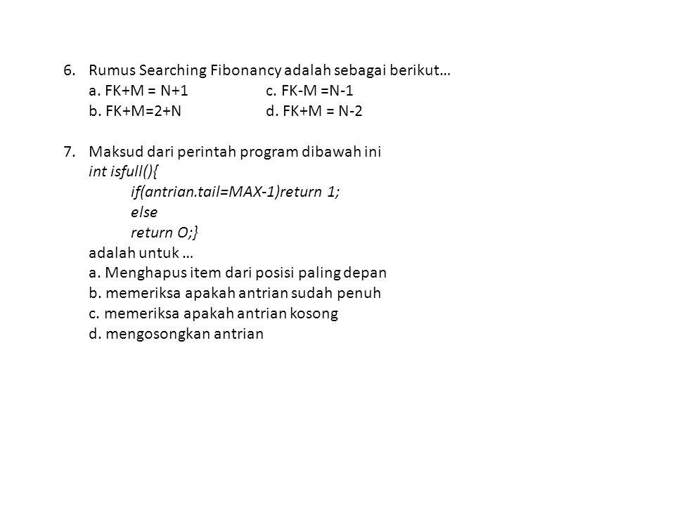4.Apa fungsi dari ISEMPTY dalam STACK… a. Untuk memeriksa STACK kosong b.