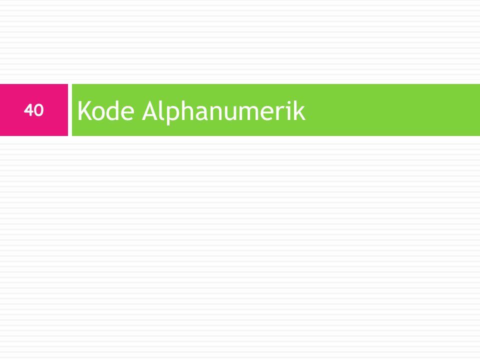 Kode Alphanumerik 40